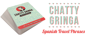 Chatty Gringa - Spanish Travel Phrases & Poker Deck Logo