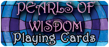 Pearls Of Wisdom Playing Cards Logo