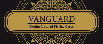 Black and Gold Vanguard-Series Playing Cards Logo