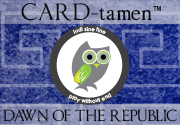Ad for CARD-tamen™ Dawn of the Republic