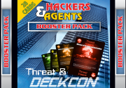 Ad for Hackers & Agents Threat Deckcon Booster