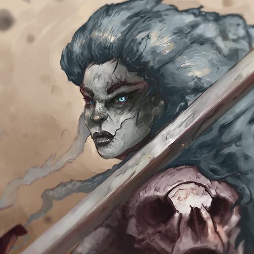 Dark Fantasy Characters + Dragon
