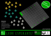Ad for Kvaredroj - a game in esperanto