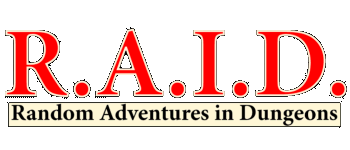 R.A.I.D. Random Adventures In Dungeons Logo