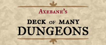 Axebane's Deck of Many Dungeons Logo