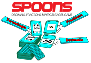Ad for Spoons (Decimals, Fractions & Percentages Game)