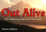Ad for Out Alive: The Wilderness Survival Card Game (Deluxe)
