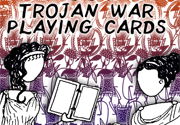 Ad for Trojan War Playing Cards by Greek Myth Comix