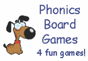 Ad for Phonics Board Games, set of 4
