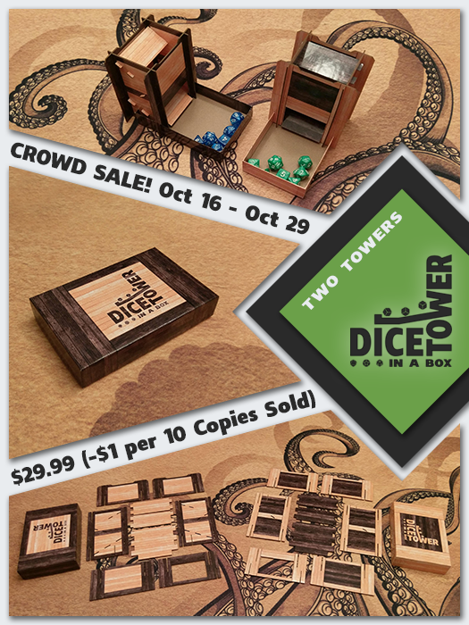 Dice Tower in a Box - Two Towers