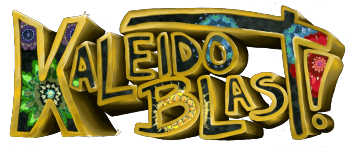 Kaleido Blast! A Solitaire Dice Game Logo