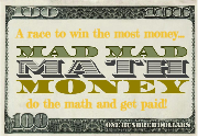Ad for Mad Mad Math Money