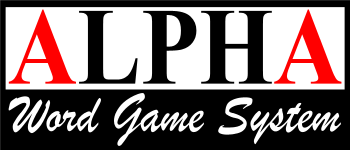 Alpha Word Game System Logo