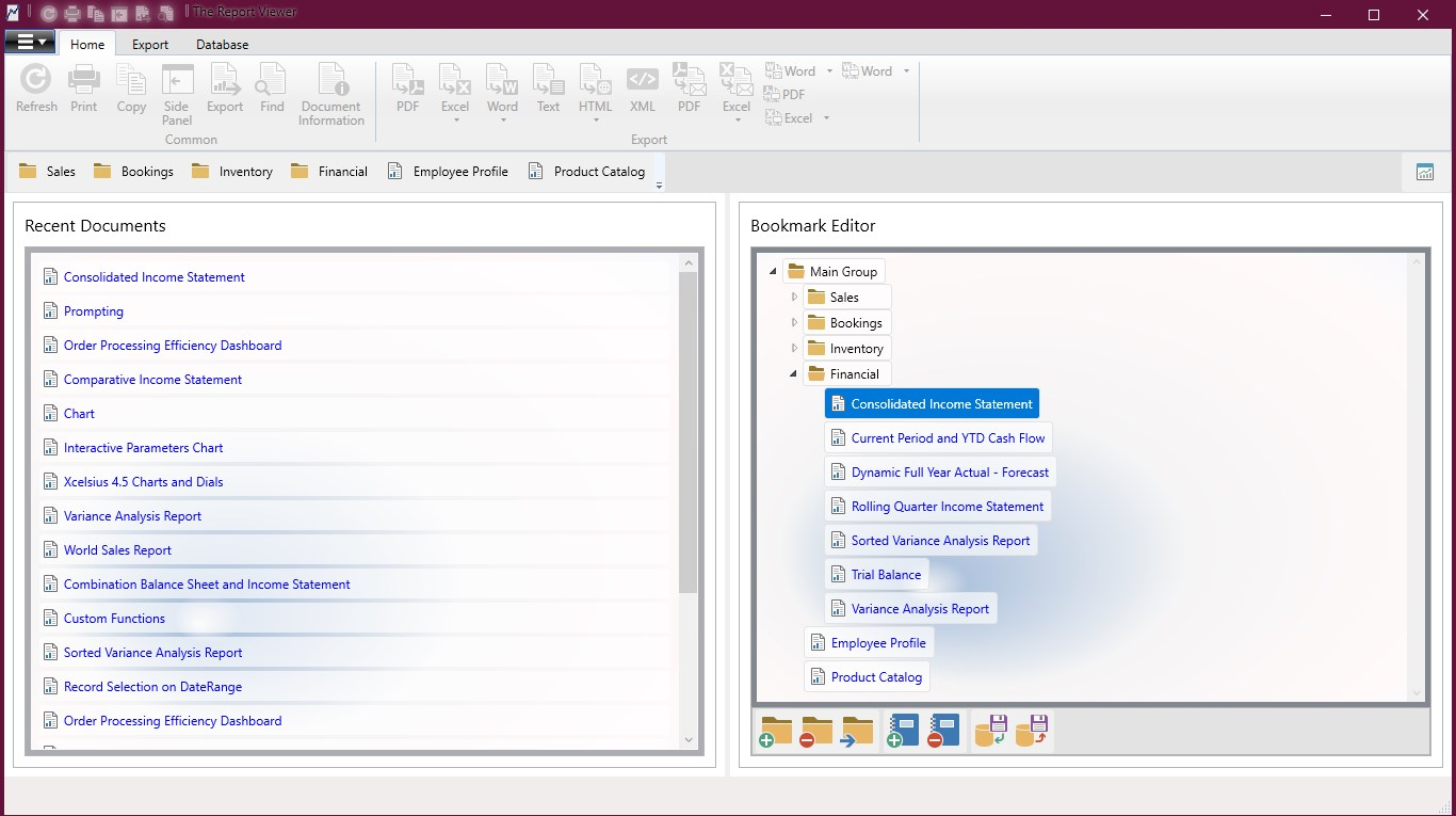 The Report Viewer | Enterprise Applications for Crystal Reports