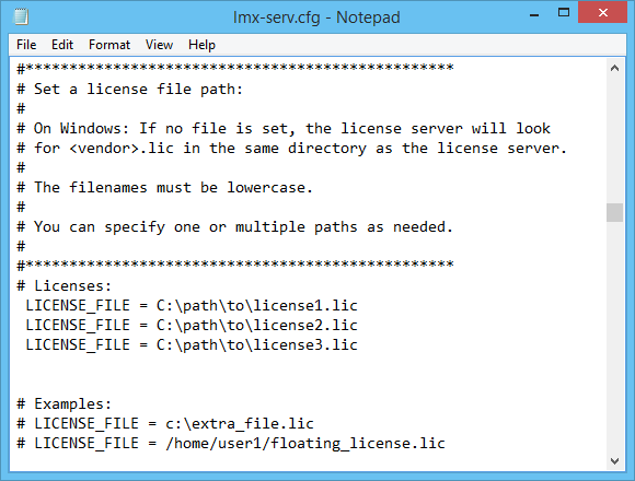 License Server Configuration Example