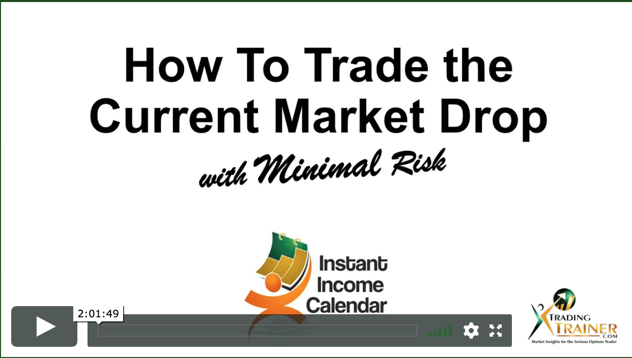 Webinar Replay: How To Trade the Current Market Drop with Minimal Risk