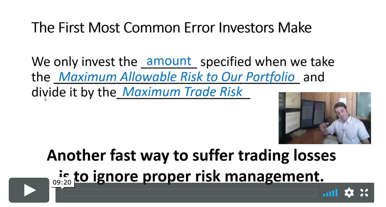 Important Trading Rules and Common Errors To Avoid