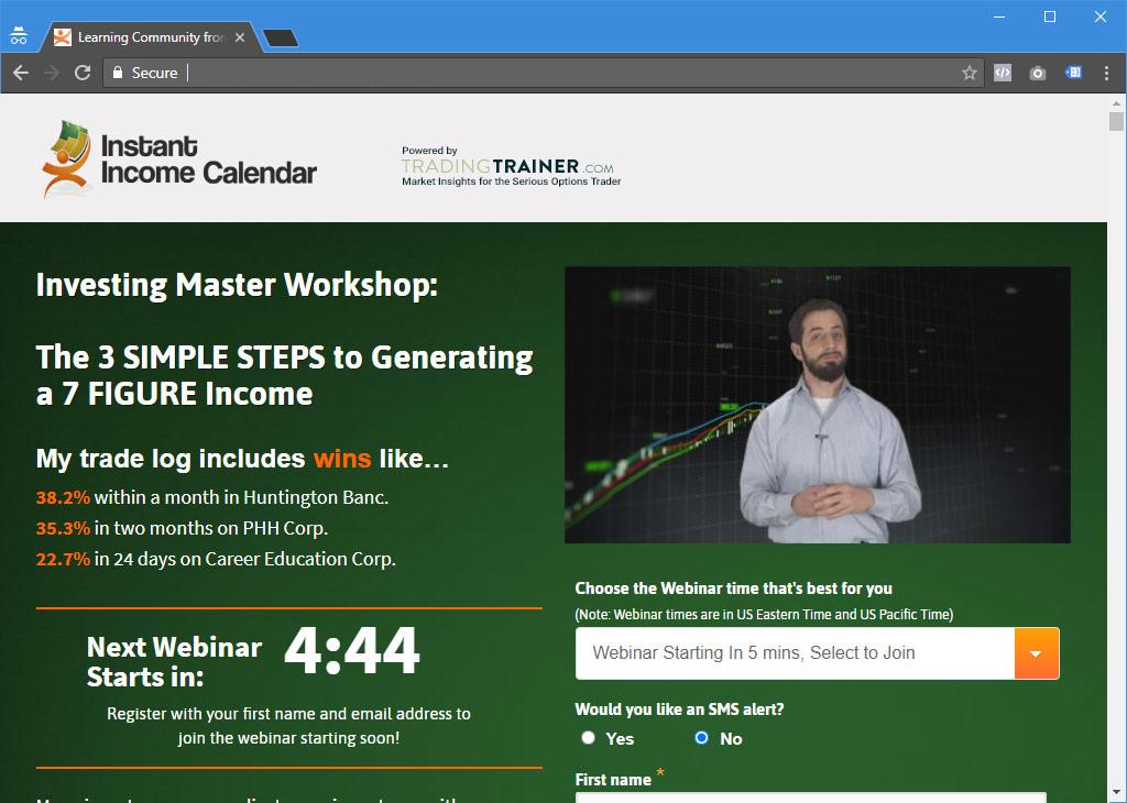Instant Income Webinars