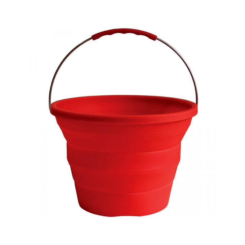le seau pliable en gomme de silicone pack away bucket de. Black Bedroom Furniture Sets. Home Design Ideas