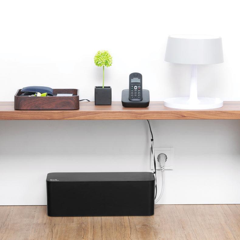 La bo te c bles et chargeurs bluelounge cable box - Comment cacher fils tv ...