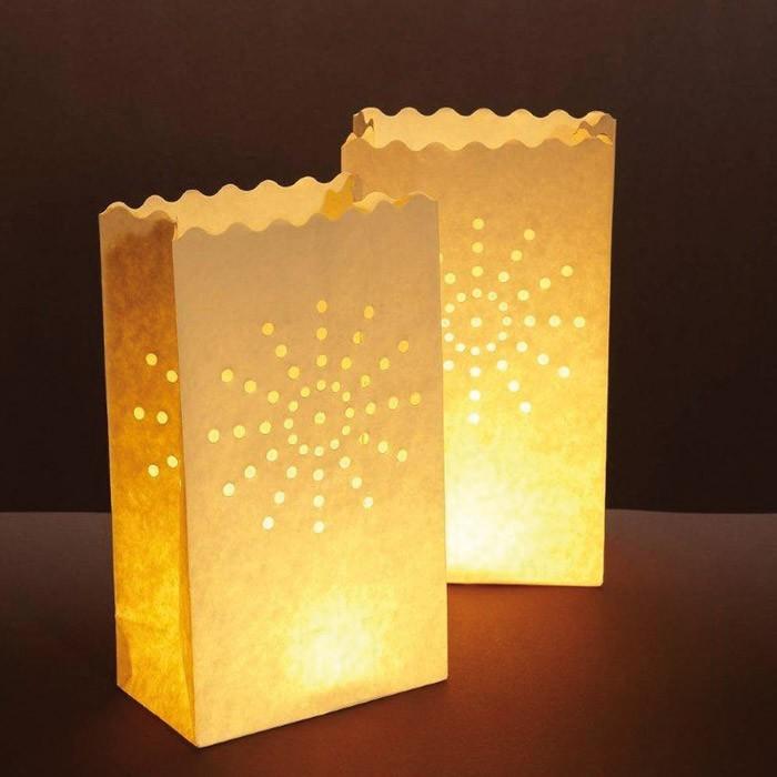 Les photophores lampions lanternes en papier pour bougie - Comment fabriquer des bougies parfumees ...