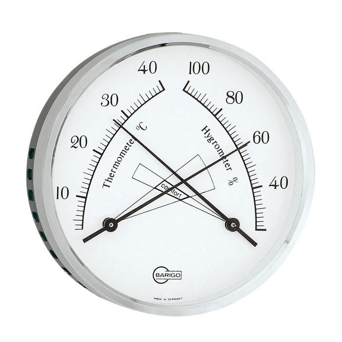 Thermom tre hygrom tre analogique de confort barigo - Thermometre interieur maison ...