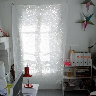 rideau en tyvek int rieur ou ext rieur ajour oo de fab design. Black Bedroom Furniture Sets. Home Design Ideas