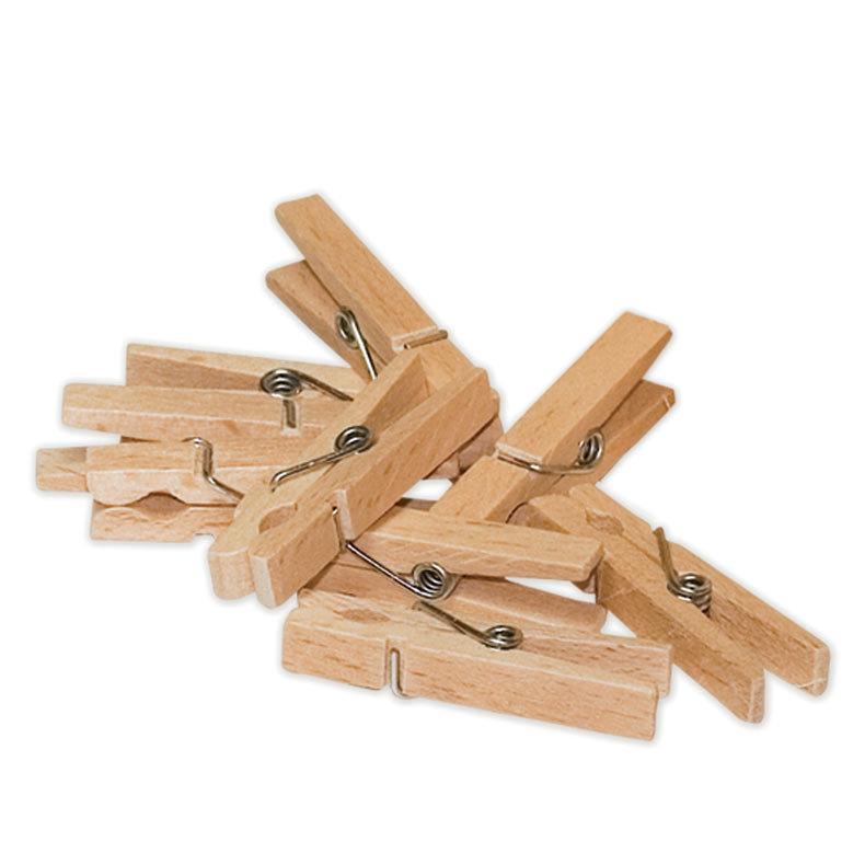 50 petites pinces à linges en bois prêtes à rendre de nombreux