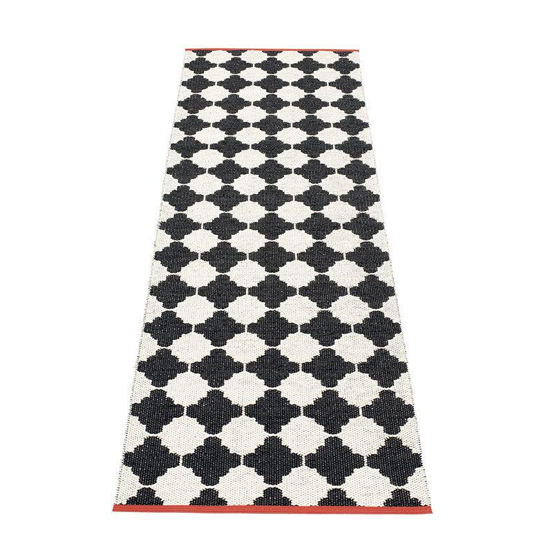 MARRE - tapis long, tapis de couloir Pappelina - BLACK