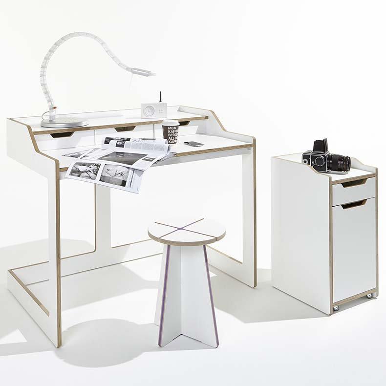 bureau secr taire et caissons plane design felix stark. Black Bedroom Furniture Sets. Home Design Ideas