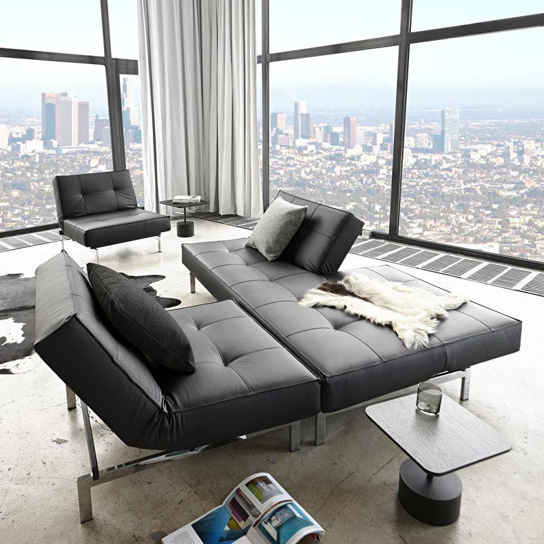 splitback chrome canap lit fauteuil mridienne design et fonctionnels canap modulaire - Pied De Canape Design