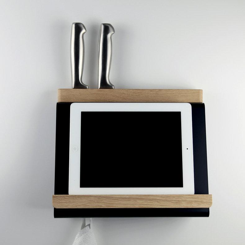 Support de tablette de cuisine et porte couteaux tablio - Porte tablette cuisine ...
