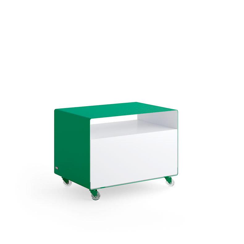 Meuble tv compact chariot avec porte r107n m ller for Meuble tv avec porte