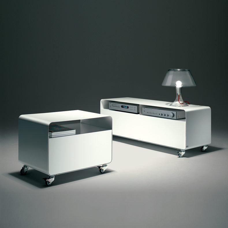 meuble TV compact / chariot avec porte R107N - Müller ...
