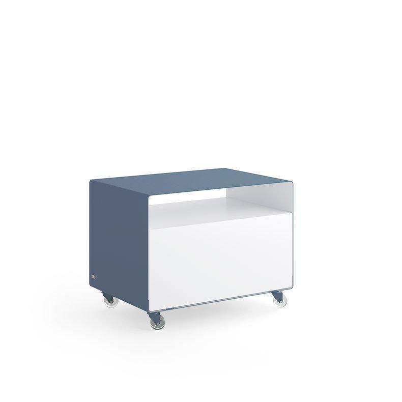 Meuble tv compact chariot avec porte r107n m ller for Meuble tv avec roulettes