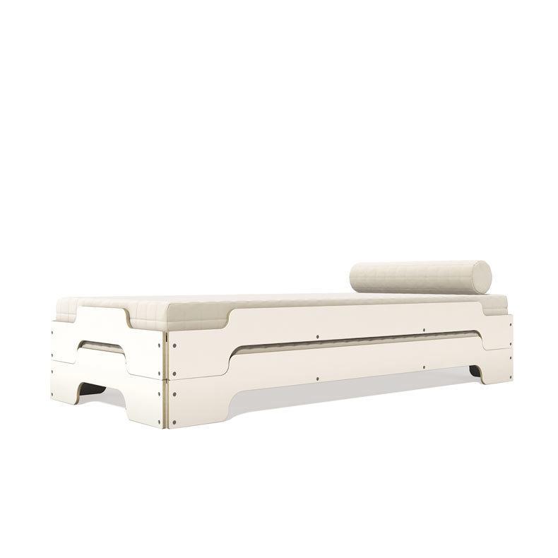 lit empilable m ller m bel m lamin blanc tranche bouleau design rolf heide. Black Bedroom Furniture Sets. Home Design Ideas