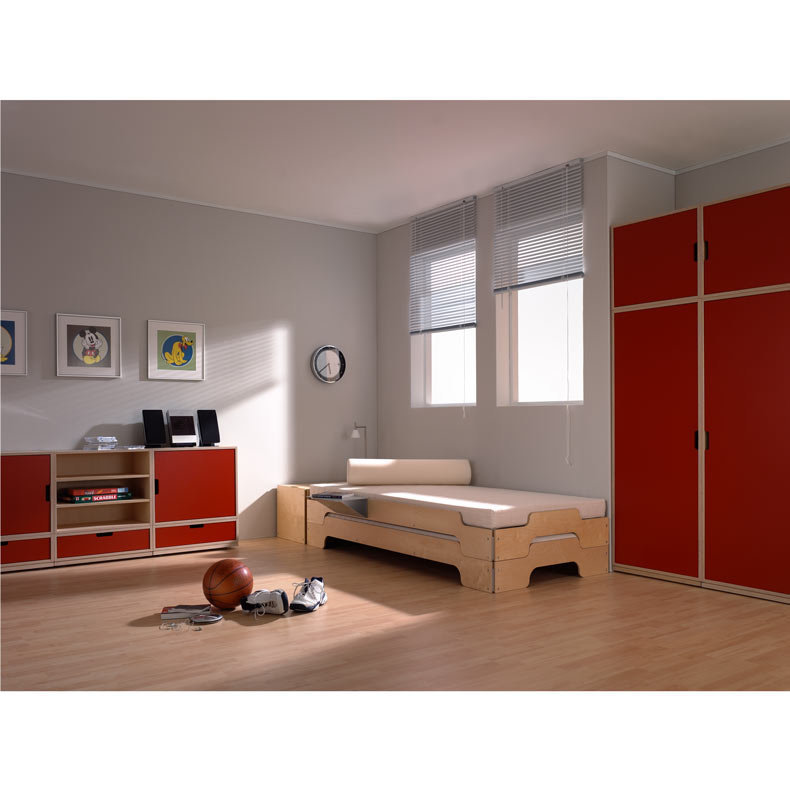 lit empilable m ller m bel finition bouleau design rolf heide. Black Bedroom Furniture Sets. Home Design Ideas