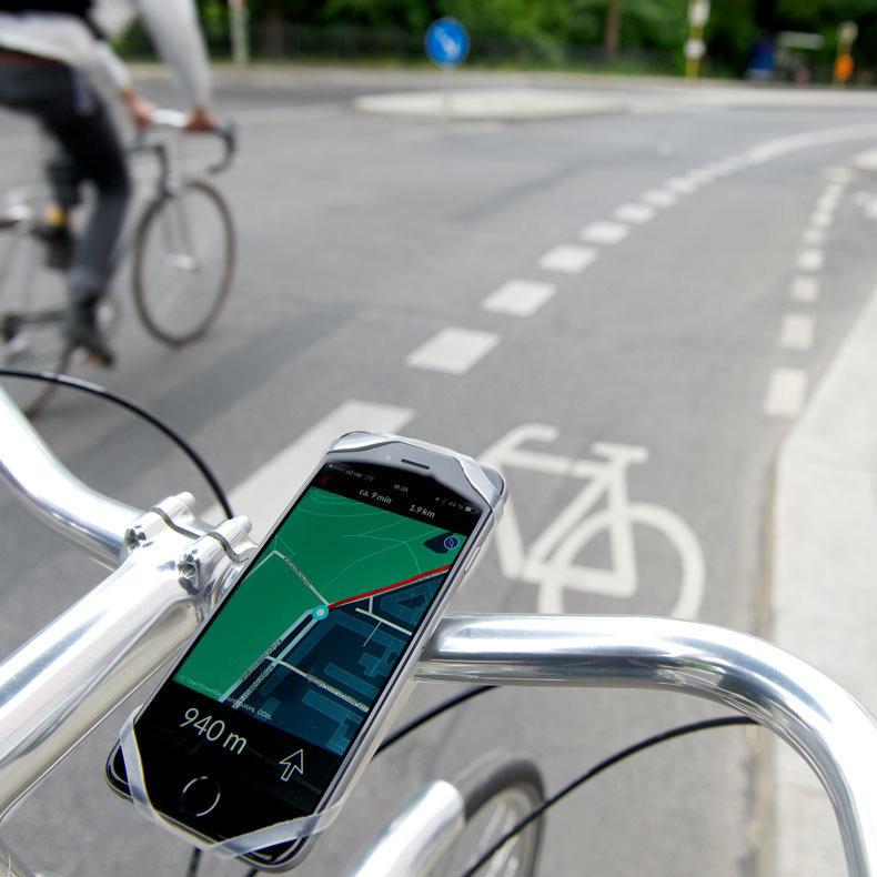 support smartphone universel pour v lo finn de bike citizens. Black Bedroom Furniture Sets. Home Design Ideas