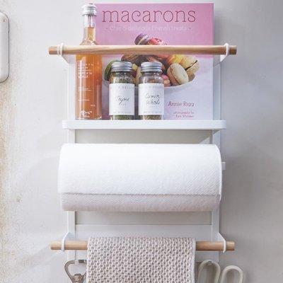 rack de rangement et d vidoir magn tique pour frigo tosca yamazaki. Black Bedroom Furniture Sets. Home Design Ideas