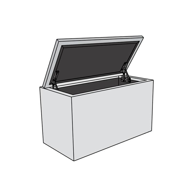 pouf banc coffre boite de rangement 120cm the box extra large. Black Bedroom Furniture Sets. Home Design Ideas