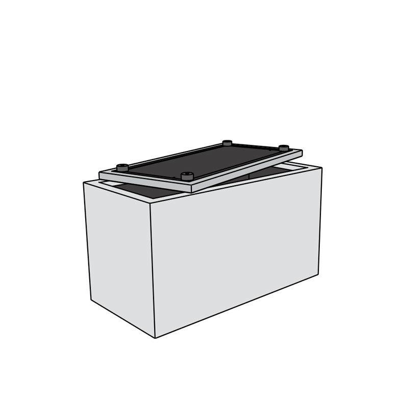 Pouf Banc Coffre Boite De Rangement 120cm The Box Extra Large