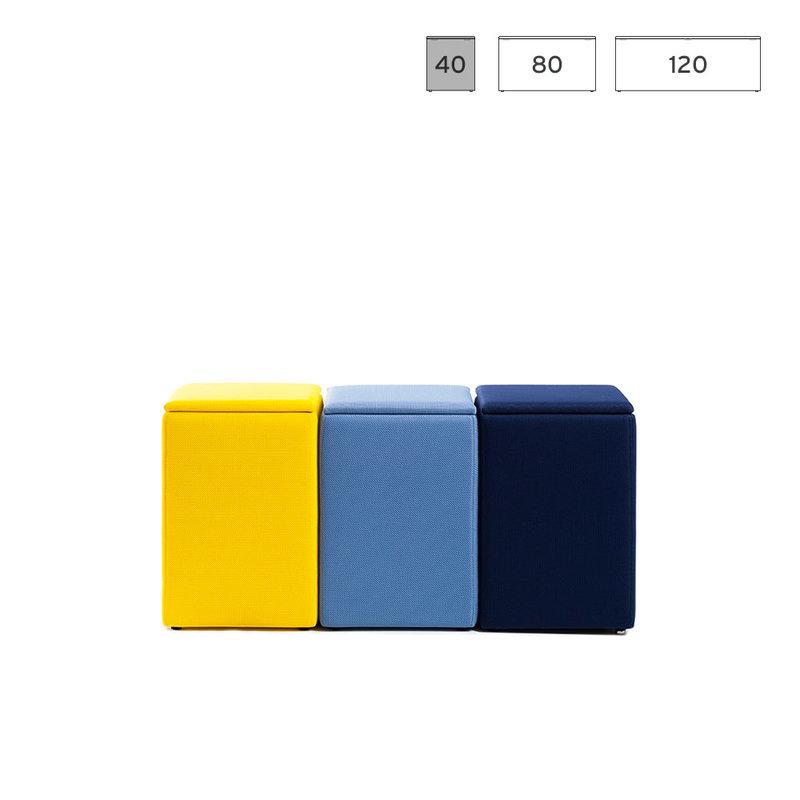 pouf banc coffre boite de rangement 40cm the box small. Black Bedroom Furniture Sets. Home Design Ideas