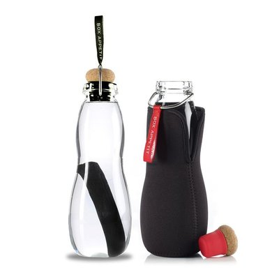 Fabuleux petite bouteille d'eau en verre Eau Good Glass de Black and Blum  QA93