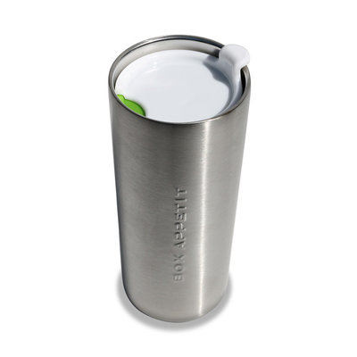 Travel Mug, le grand mug en inox avec son couvercle fait pour se transporter facilement. (Black and Blum)