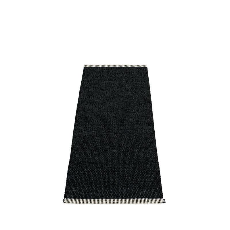 mono tapis long tapis de couloir largeur 60cm pappelina black. Black Bedroom Furniture Sets. Home Design Ideas