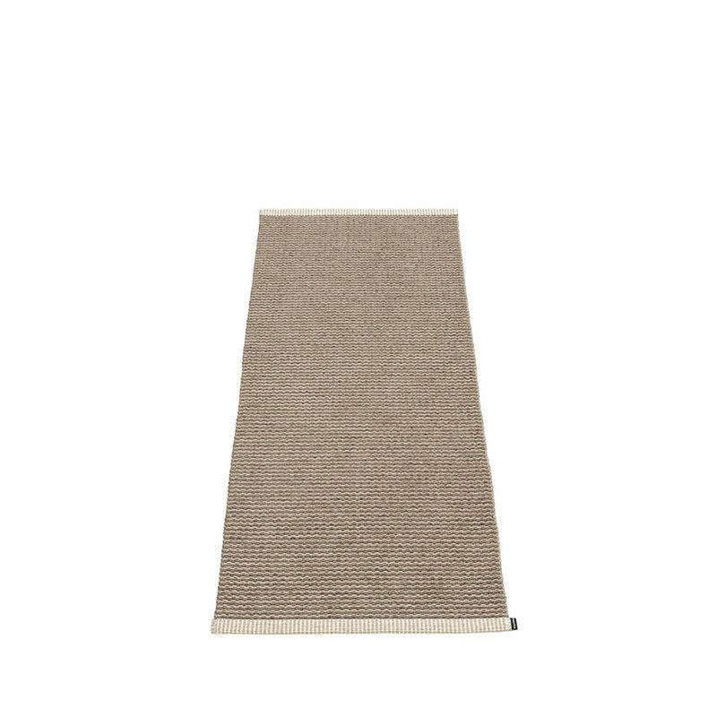 mono tapis long tapis de couloir largeur 60cm pappelina dark mud. Black Bedroom Furniture Sets. Home Design Ideas