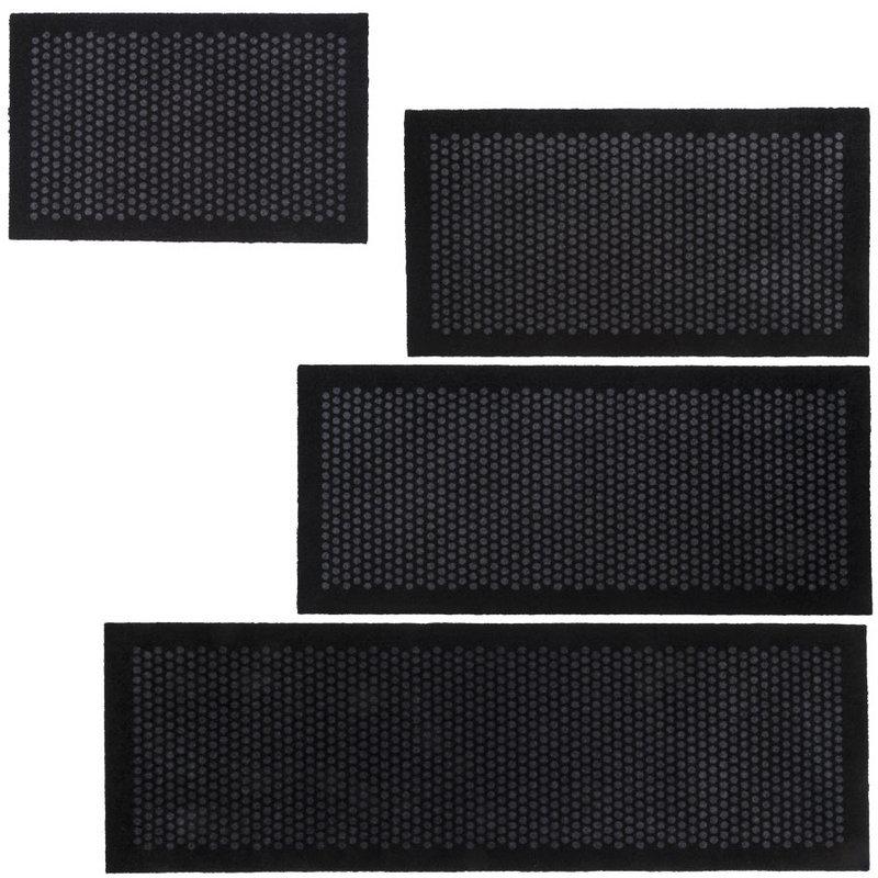 tapis paillassons indoor dot noir gris tica copenhagen. Black Bedroom Furniture Sets. Home Design Ideas