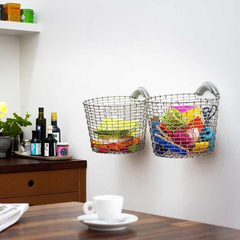 corbeilles de rangement en acier inoxydable bin inox. Black Bedroom Furniture Sets. Home Design Ideas