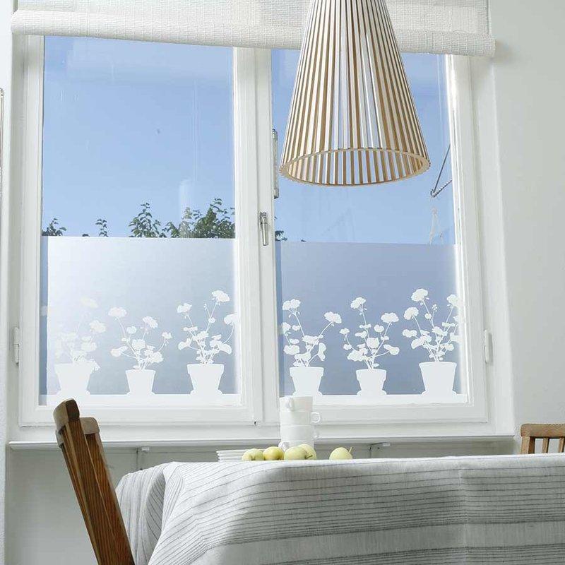 film vitrostatique occultant geranium siluett frost. Black Bedroom Furniture Sets. Home Design Ideas