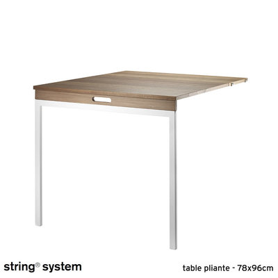 Pieds System Pliante Noyer String 78x96 Blanc Table w80OnkP